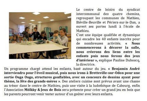 Ouest France - Article 02 mars 2011