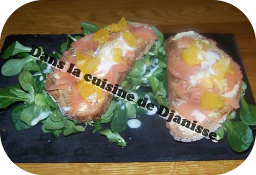 tartine de saumon et orange