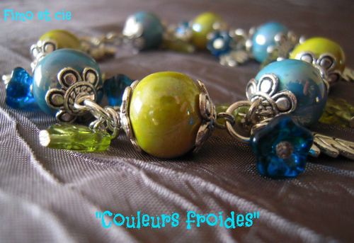 bracelet vert et bleu2