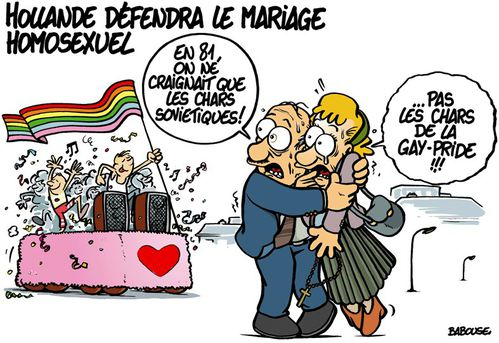 by BABOUSE. François Hollande défendra le mariage gay.