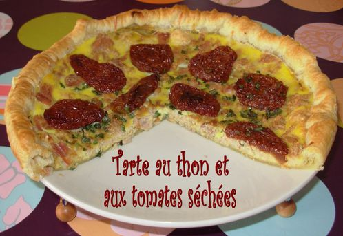 tarte au thon et aux tomates s ch es. Black Bedroom Furniture Sets. Home Design Ideas