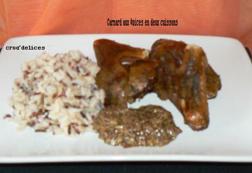 Canard aux épices en deux cuissons