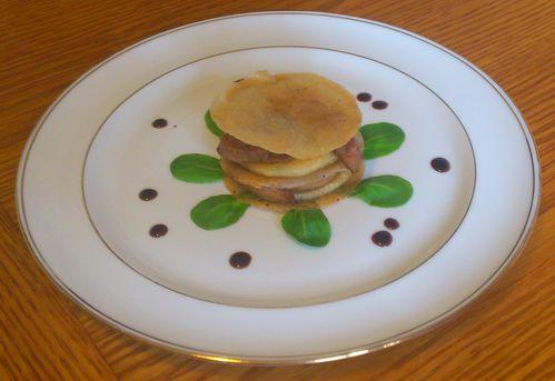 mille-feuille au foie frais et pommeau 1