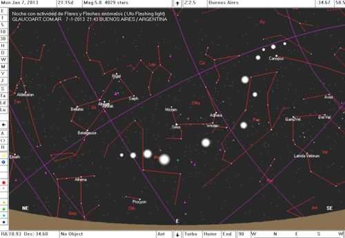 7,1UFO FLASH STARSMAP