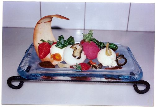 Assiette de sorbets patisserie ma passion de boitard jerome for Du jardin a l assiette mauves
