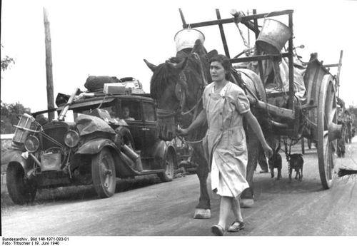 Exode 1939 Villeneuve la Garenne