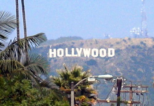 Los Angeles Hollywood lettres