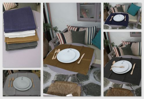 Sets de table en lin 30 oneipa - Set de table en lin ...