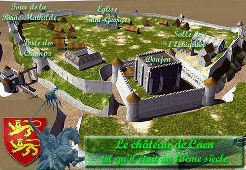 Caen - château 13ème siècle