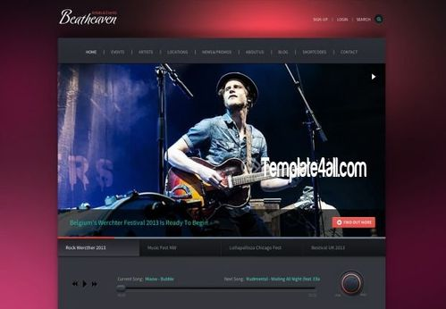 Free web templates dreamwaver free web templates wordpress music heaver premium wordpress theme template download music premium wordpress theme to download this theme is optimized for a responsive viewing pronofoot35fo Gallery
