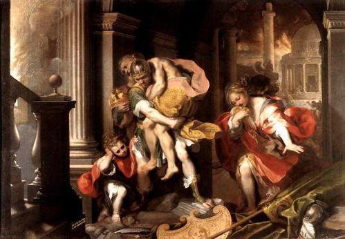 Enee fuyant Troie Barocci 1598