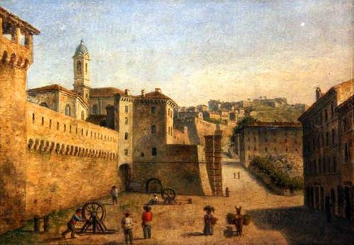 912c2 Ancône, Porta Calama, vers 1850