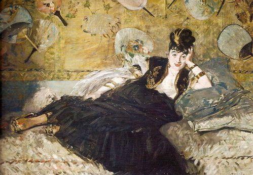 8B Divan Manet 1873 La dame aux éventails Nina de Callias