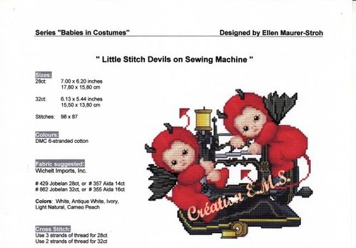 Little Stitch Devils on Sewing Machine