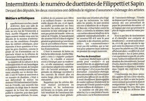 article le Monde AN 01.03.13