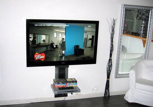 lcd super plat sony 52 nx 800 accroch au mur impressionnant antenniste installateur tv. Black Bedroom Furniture Sets. Home Design Ideas