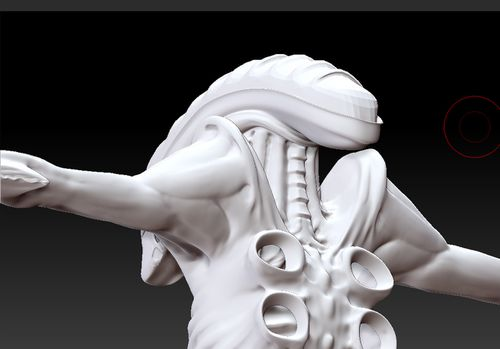 alien zbrush head back