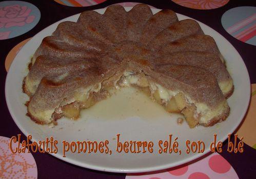 Clafoutis pommes, beurre salé, son blé2