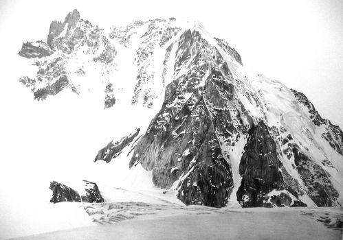 07 - montagnes enneigées - dessin
