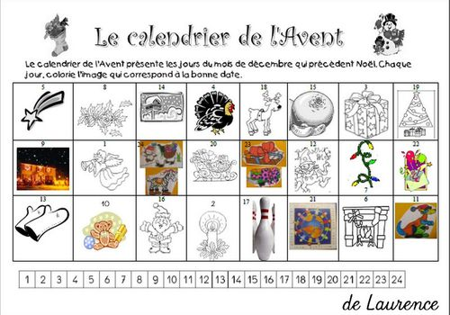calendruier avent laurence