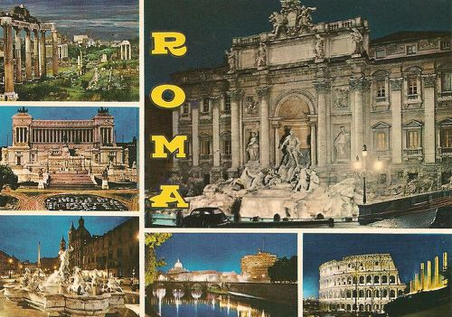 Cartes postales Capitales Rome Italie