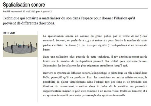 Spatialisation sonore