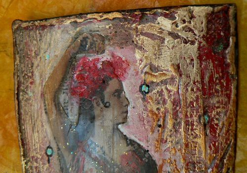 ATC flamenco lilibulle détail 4
