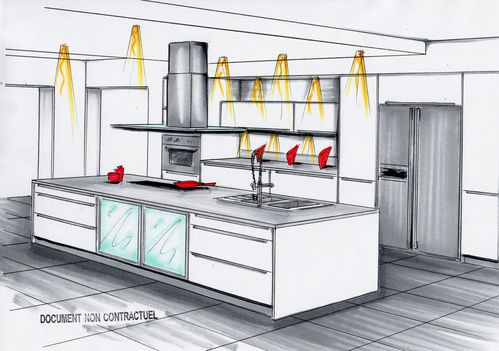 comment dessiner une cuisine en 3d of comment dessiner une cuisine. Black Bedroom Furniture Sets. Home Design Ideas