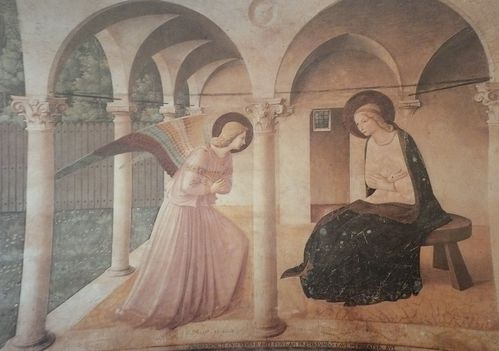Fra Angelico L'Annonciation vers 1449 greque 230x321 Floren