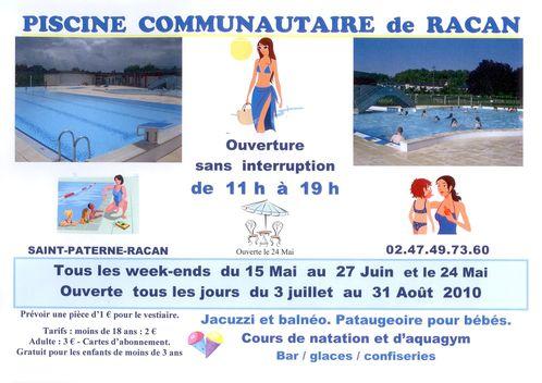 Affiche piscine 2010