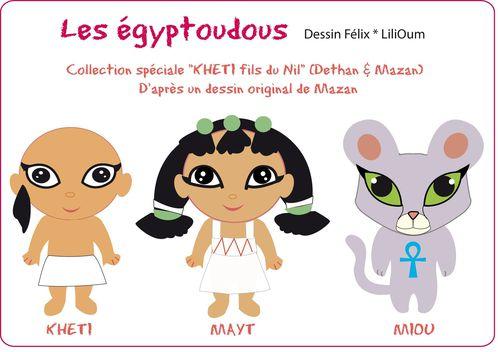 Présentation Khéti Trio dessin égyptoudous