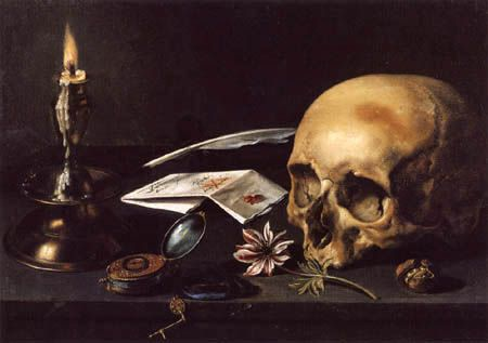 pieter Claesz nature morte à la tete de mort (3)