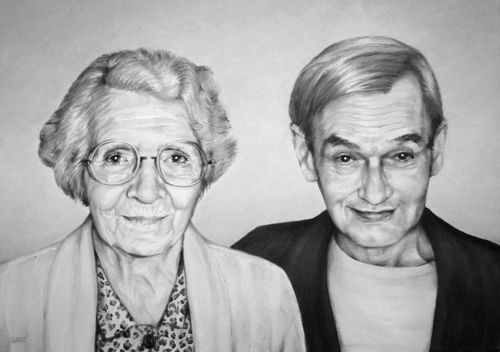 Portrait de grands parents