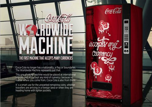 Coca Cola Vending Machine Takes Coins Of Any Currency - PSF