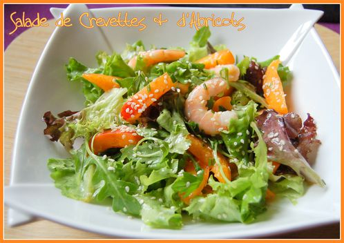 salade crevettes abricots