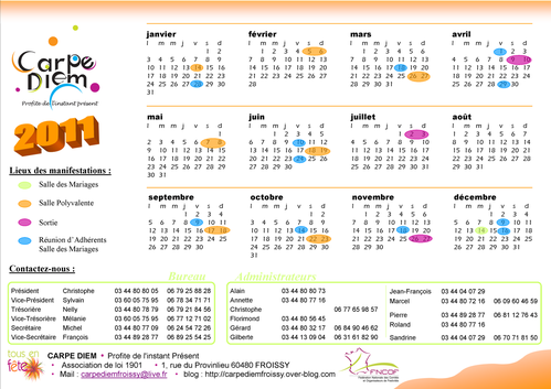 Calendrier 2011 version 1