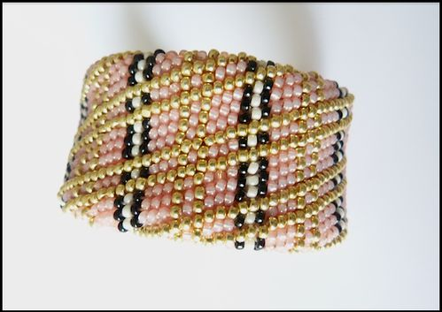 bracelet crochet plat