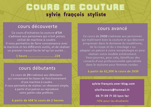 cours couture lyon 5. Black Bedroom Furniture Sets. Home Design Ideas