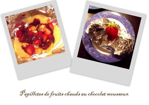 Papillotes de fruits chauds