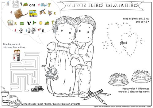 Mariage scrapbook 39 mili - Set de table enfant ...