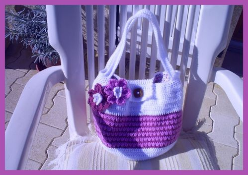 son sac au crochet