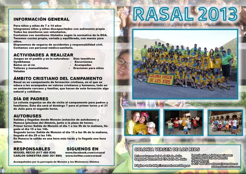 parte delantera del diptico de rasal 2013