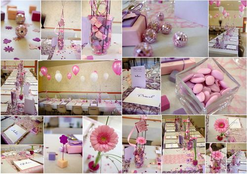 Bapt me rose bonbon blog cbodeco for Decoration bapteme fille