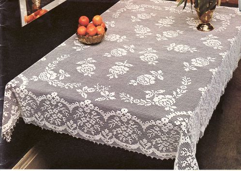 comment tricoter une nappe au crochet. Black Bedroom Furniture Sets. Home Design Ideas
