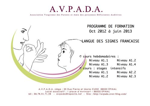 programme Formations LSF 2012 -2013 blog