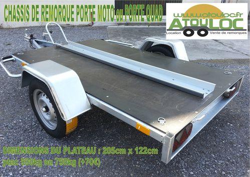 remorques porte moto quad espace vert 500 1500kg. Black Bedroom Furniture Sets. Home Design Ideas
