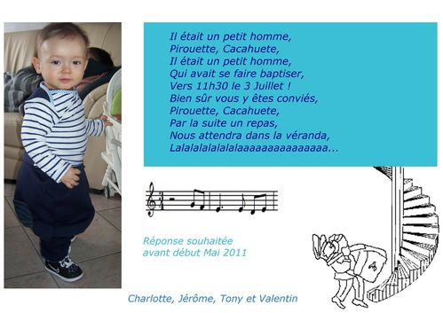 faire part bapteme valentin