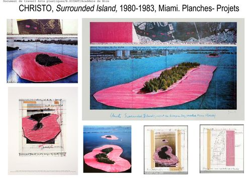 12fiche projet surrounded island, CHRISTO 1983