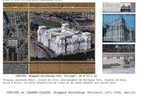 fiche CHRISTO Reichstag 1971-95