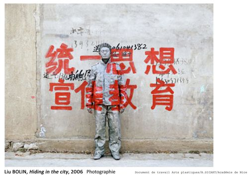 4 Liu BOLIN, Hiding in the city, 2006